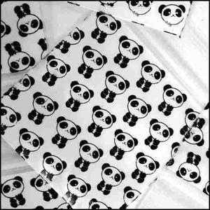 Apple Mini Ziplock Baggies Panda Design 100 Bolsas D...