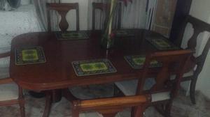 Comedor 6 Puestos en Madera Cedro Yakar