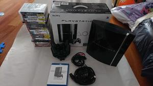 Combo Ps3 80g + 2 Controles + 23 Juegos + Base Carga Dual