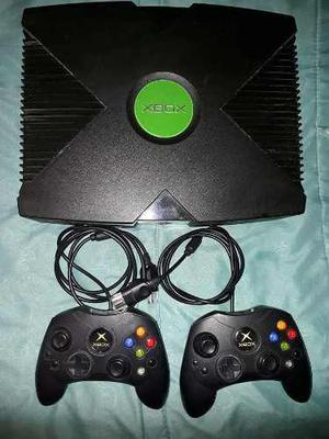 Xbox Clasico Negro En Buen Estado Dis Controles 15 Juegos