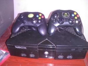 Xbox Clasico Negro En Buen Estado Dos Controles
