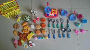 vendo accesorios cocina de juguete