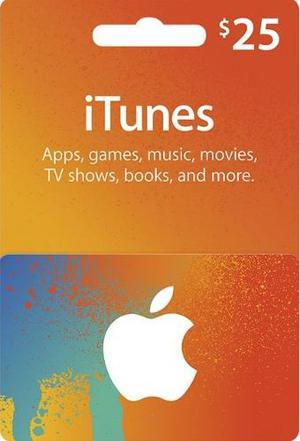 Codigo Itunes 25 Usd Apple Gift Card Itunes 25usd Digital