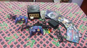 Nintendo Game Cube Chipeado+2controls+12 Juegos