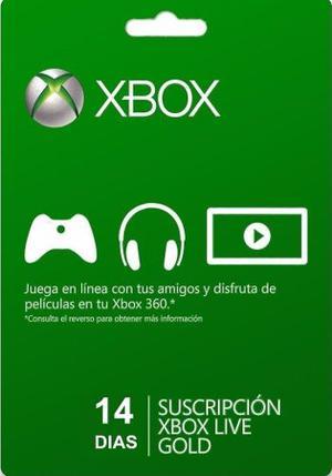 Xbox Live 14 Dias Codigo Digital Xbox Live Gold 14 Dias