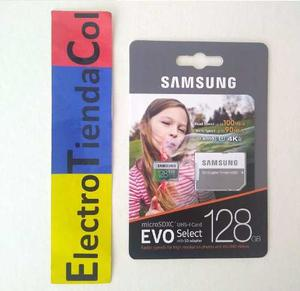 Memoria Micro Sd 128gb Samsung Clase 10 U3 Original 4k Nueva