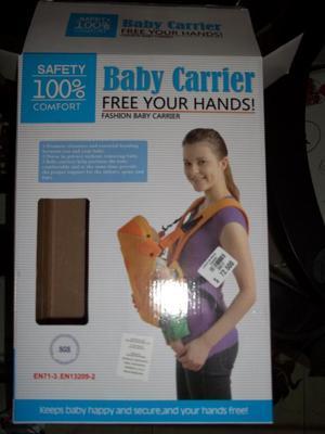 Cargador o canguro para recien nacido BABY CARRIER