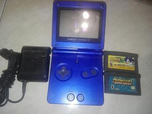 Game Boy Advance Sp Con Juegos Y Cargador.