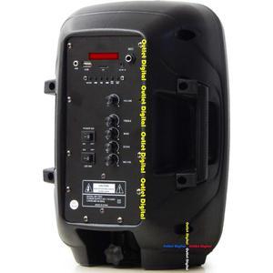 Cabina recargable 8 pulgadas con microfono inalambrico luces