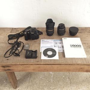 Cámara Nikon d , lente , lentilla gran angular,