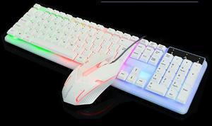 Teclado Y Mouse Gamer Negro Y Blanco Nuevo