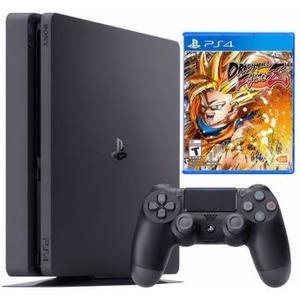 Consola Playstation Slim 1 Tb + Dragon Ball Fighterz - Negro