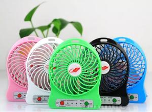 Mini Ventilador Personal Recargable Portátil Con Linterna