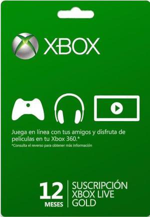 Xbox Live 12 Meses Codigo Digital Xbox Live Gold 12 Meses