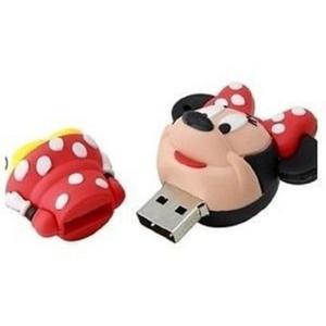 Memoria Usb 16 Gb Diseño De Minnie Mouse Disney Roja
