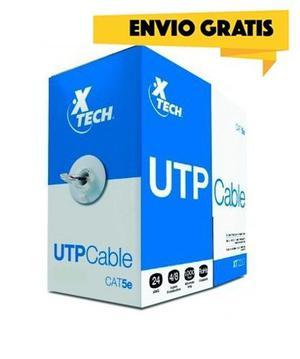 Cable De Red Utp Cat 5e Para Interior Xtech, Caja 305 Mts