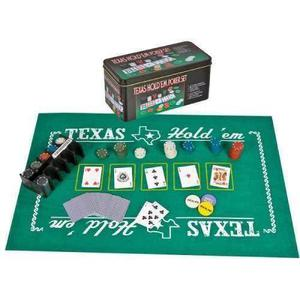 Set De Poker Tipo Casino Texas Hold 200 Fichas Cartas Tapete