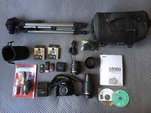 Kit Camara Nikon D Lentes+ Uv+ Tripode+ Caja Luz