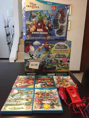 Nintendo Wii U Súper Combo,cosola + Juegos