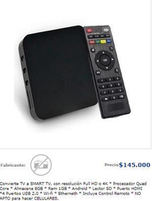 Convierte TV a Smart TV con TV Box