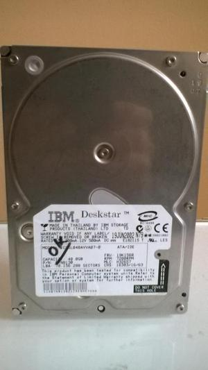 SE VENDE DISCO DURO IBM DE 40 GIGAS IDE