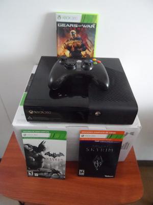 Consola Xbox 360 Slim, 4 Gb + 3 Juegos, Perfecto Estado