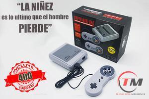 Consola Retro Super Nintendo Con 400 Juegos Envio Gratis