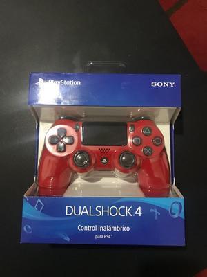 Control Ps4 Nuevo Rojo