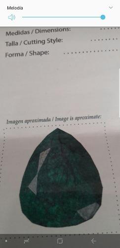 Venpermuto Hermosa Esmeralda De Museo Con Certificado Gemolo
