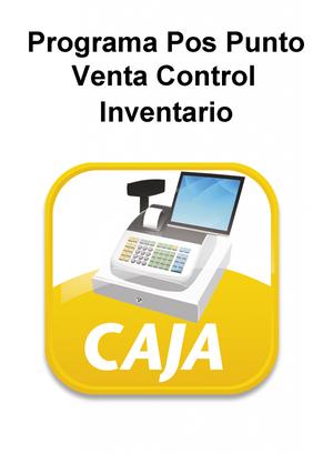 Programa Pos Punto De Venta, Control Inventario Y Financiero