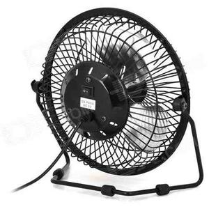Ventilador Usb Metalico 5v Color Negro Diametro 20 Cms