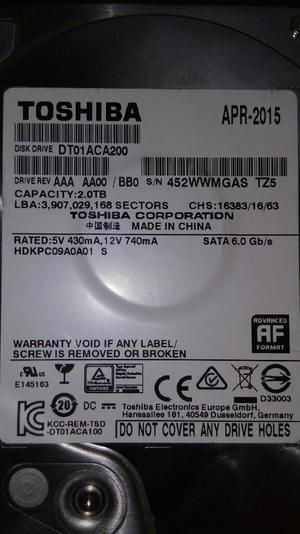 Disco Duro Toshiba de 2 Terabytes Barato