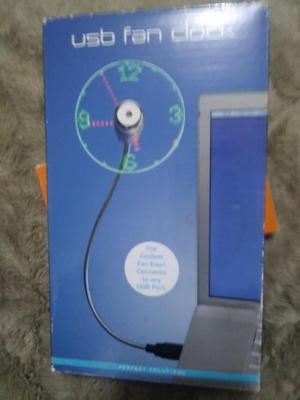 Ventilador Mini personal flexible usb con reloj