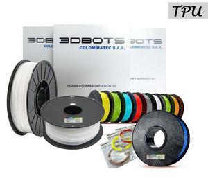 Tpu Filamentos Plásticos Flexible Impresión 3d, 1/2lb,
