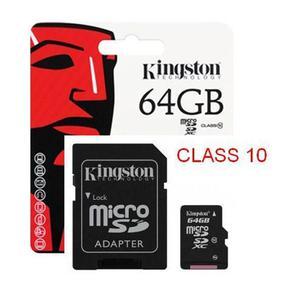 Memoria Microsd Micro Sd Kingston 64gb Clase 10 Original