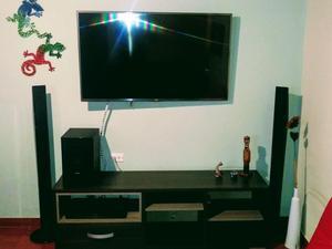 Combo Televisor LG 39 pulg, home theater Sony y mesa para TV