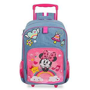 Morral Maleta Con Ruedas Disney Minnie Mouse Auténtico