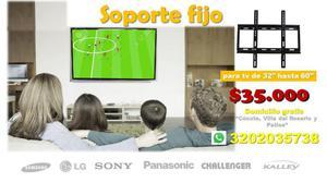 Soporte móvil o fijo para televisor de 32 hasta 60 pulgadas