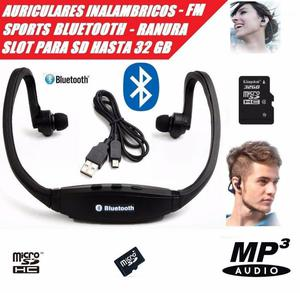 Audífonos S9 Sports Bluetooth V3.0 Micro Sd