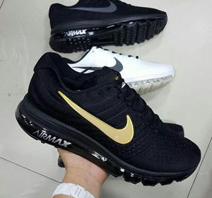 Nike Air Max 360 Hombre Negra Dorada. Envio Gratis