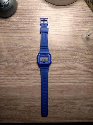 Reloj Casio Retro Azul Intenso F91wc