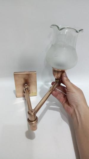 Aplique Extension Antiguo Bronce Cristal