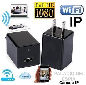 Camara Seguridad Cargador Con Camara Espia WIFI Memoria