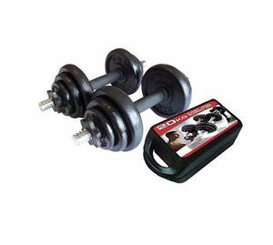 Kit De Mancuernas Pesas 20kg 40lbs Gym Portatil 12 Discos
