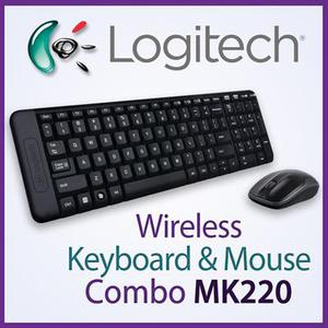 Combo Teclado Mouse Inalámbricos · Logitech Wireless Mk220
