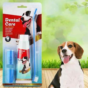 Kit Crema,cepillo Dental,limpia Encías Lengua Mascota,yako