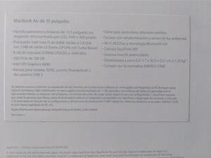 MacBook Air de 13 pulgadas