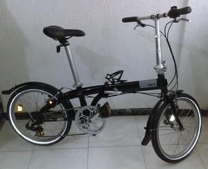 Bicicleta Tern C7 plegable negra Obsequio Todoterreno