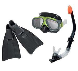 Kit De Buceo Snorkel + Careta + Aletas Profesional Completo