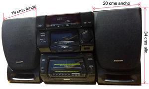 Equipo de sonido Panasonic SA CH64M, de 61 CDS, funciona